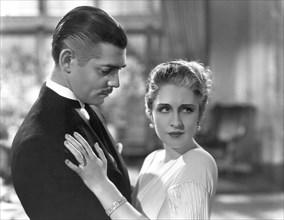 """Clark Gable, Norma Shearer, on-set of the Film """"Strange Interlude"""", 1932"""