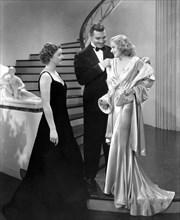 "Myrna Loy, Clark Gable, Jean Harlow, on-set of the Film ""Wife vs. Secretary"", 1936"