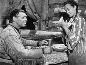 "Clark Gable, Maria Elena Marques, on-set of the Film ""Across the Wide Missouri"", 1951"