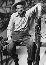 """Gary Cooper, on-set of the Film """"The Cowboy and the Lady"""", 1938"""