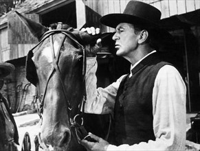 """Gary Cooper, on-set of the Film """"Friendly Persuasion"""", 1956"""