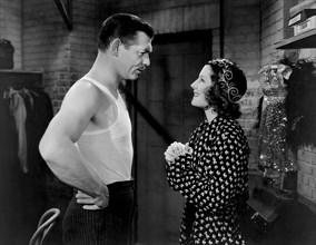 "Clark Gable, Norma Shearer, on-set of the Film ""Idiot's Delight"", 1939"