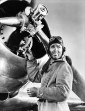 """Clark Gable, on-set of the Film """"Test Pilot"""", 1938"""