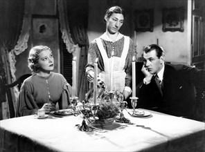 "Helen Vinson, Hilda Vaughn, Gary Cooper, on-set of the Film ""The Wedding Night"", 1935"