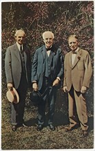 Henry Ford, Thomas Edison & Harvey Firestone, Full-Length Portrait, Fort Myers, Florida, USA, 1931