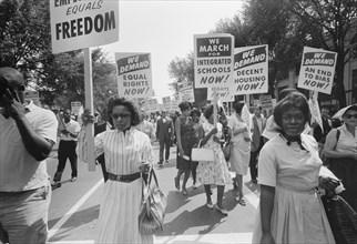 Civil Rights March, Washington DC. USA, Warren K. Leffler, August 28, 1963