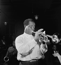 Louis Armstrong, man, musician, entertainment, celebrity, historical,
