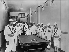 African-American Sailors in Red Cross Headquarters