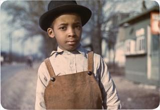 boy, child, African-American ethnicity, leisure, historical,