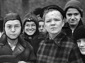 boys, children, group of people, portrait, historical,