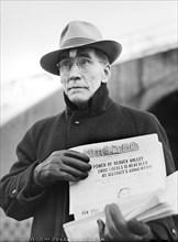 man, newspaper, politics, labor union, historical,