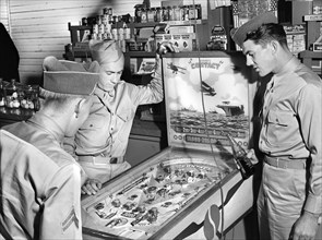 soldiers, military, pinball machine, army, historical,