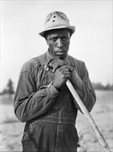 man, farmer, occupations, African-American ethnicity, historical,