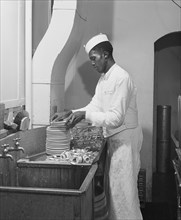 man, occupations, dishwasher, African-American ethnicity, historical,