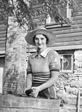 woman, occupations, farmer, agriculture, historical,