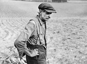 man, farmer, agriculture, field, historical,
