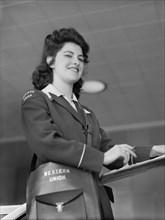 woman, occupations, Western Union, World War II, historical,