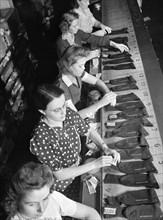 women, occupations, manufacturing, World War II, historical,