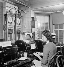 woman, occupations, telegraph, World War II, historical,