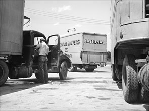 occupations, truck driver, trucks, transportation, historical,
