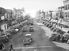 street scene, Main Street, Fayetteville, North Carolina, historical