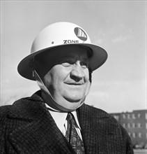man, World War II, air raid, preparation, historical,