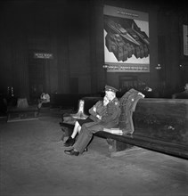 World War II, travel, soldier, Union Station, historical,