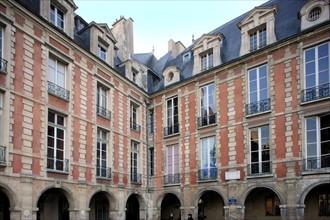 France, ile de france, paris 4e arrondissement, le marais, place des vosges, no6 maison de victor hugo. Date : 2011-2012