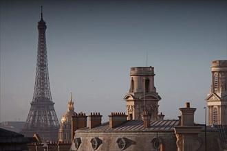 Tour Eiffel, Dôme des Invalides, Tours de l'église Saint-Sulpice, Paris