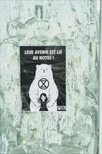 Paris, extinction rebellion poster