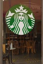 Paris, Starbucks café closed due to Covid-19 pandemic