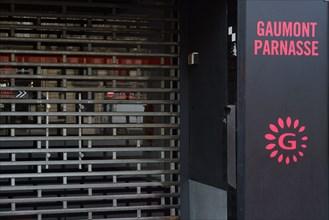 Paris, Gaumont Parnasse cinema closed due to pandemic Covid-19