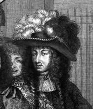 Almanach du 1 janvier 1672 : La joie de tous les Arts au retour du roi (Détail)