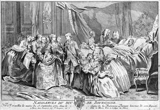 Versailles- 13 septembre 1751 - Naissance du duc de Bourgogne -