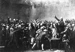 Serment du Jeu de Paume. 20 juin 1789.