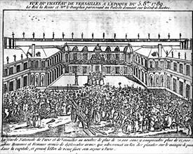 Le château de Versailles, le 5 octobre 1789.