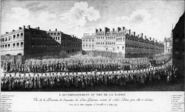 Place Dauphine, à Versailles, le 4 mai 1789.