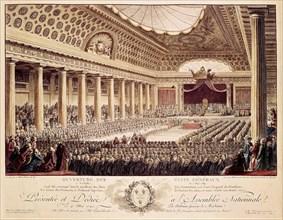 1789. Ouverture des Etats Généraux (gravure de 1790).