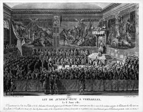 Louis XVI tient son lit de Justice à Versailles ; 1787