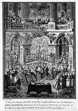 Mariage du Dauphin, futur Louis XVI, avec Marie-Antoinette