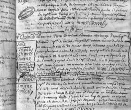 1720. Registre de la Santé de Marseille. Déclaration de la peste.