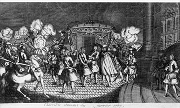 Janvier 1767. A Versailles. Attentat de Damien contre Louis XV.