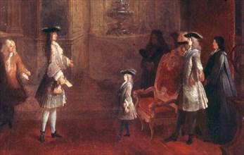 Dumesnil, Louis XV enfant recevant une ambassade