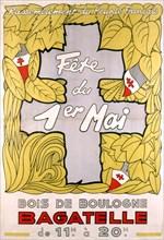 Affiche pour la fête du Premier mai (mouvement RPF)