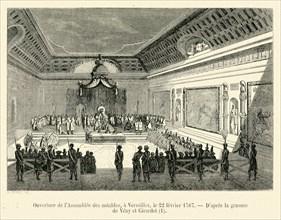 Ouverture de l'Assemblée des notables, à Versailles, le 22 février 1787.