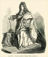D'après la peinture de Rigaud.