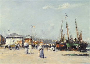Malfroy, The Beach at Deauville
