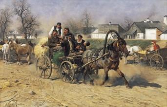Kowalski, Peasants leaving a Horse Fair
