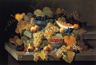 Roesen, A Still Life of Melon, Cherries and Strawberries