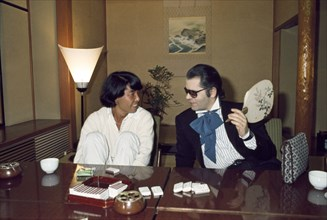 Karl Lagerfeld et Kenzo Takada, 1977